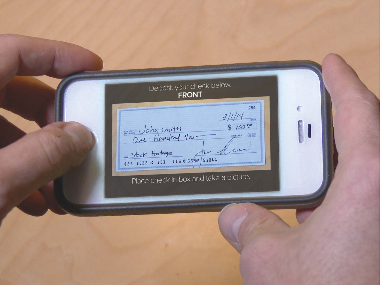 Take a picture of your check to make the Mobile Deposit