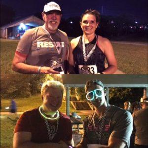 Some top runners: Robert Sneed and Pam Hallenberg. Chad Gunter and Matt Holden.