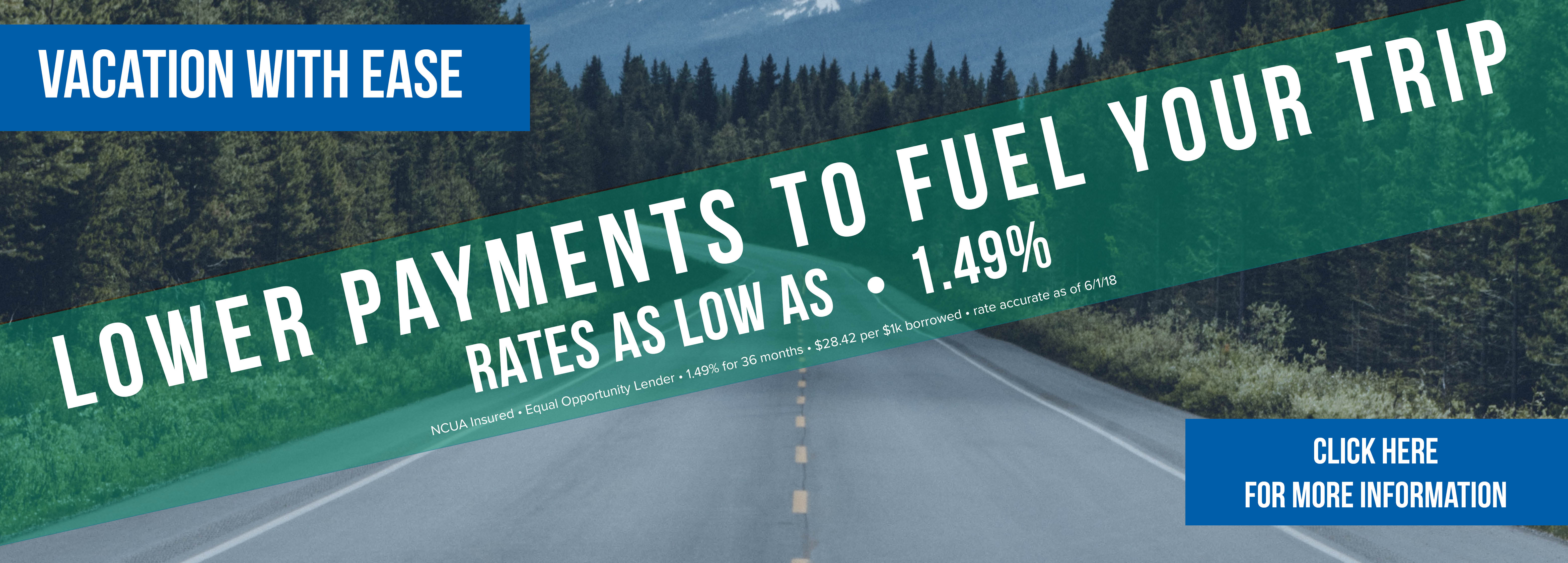 lower payments to fuel your trip