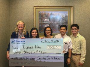 Jasmine Ngo Wins Annual Scholarship