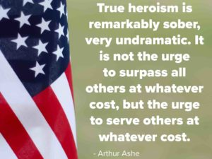 True Heroism - a quote for Veterans