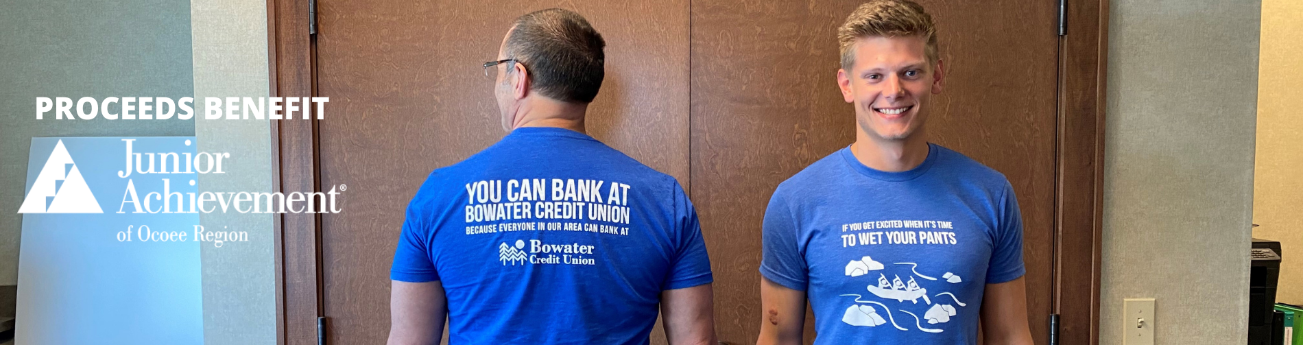 front and back on model employees proceeds benefit JA