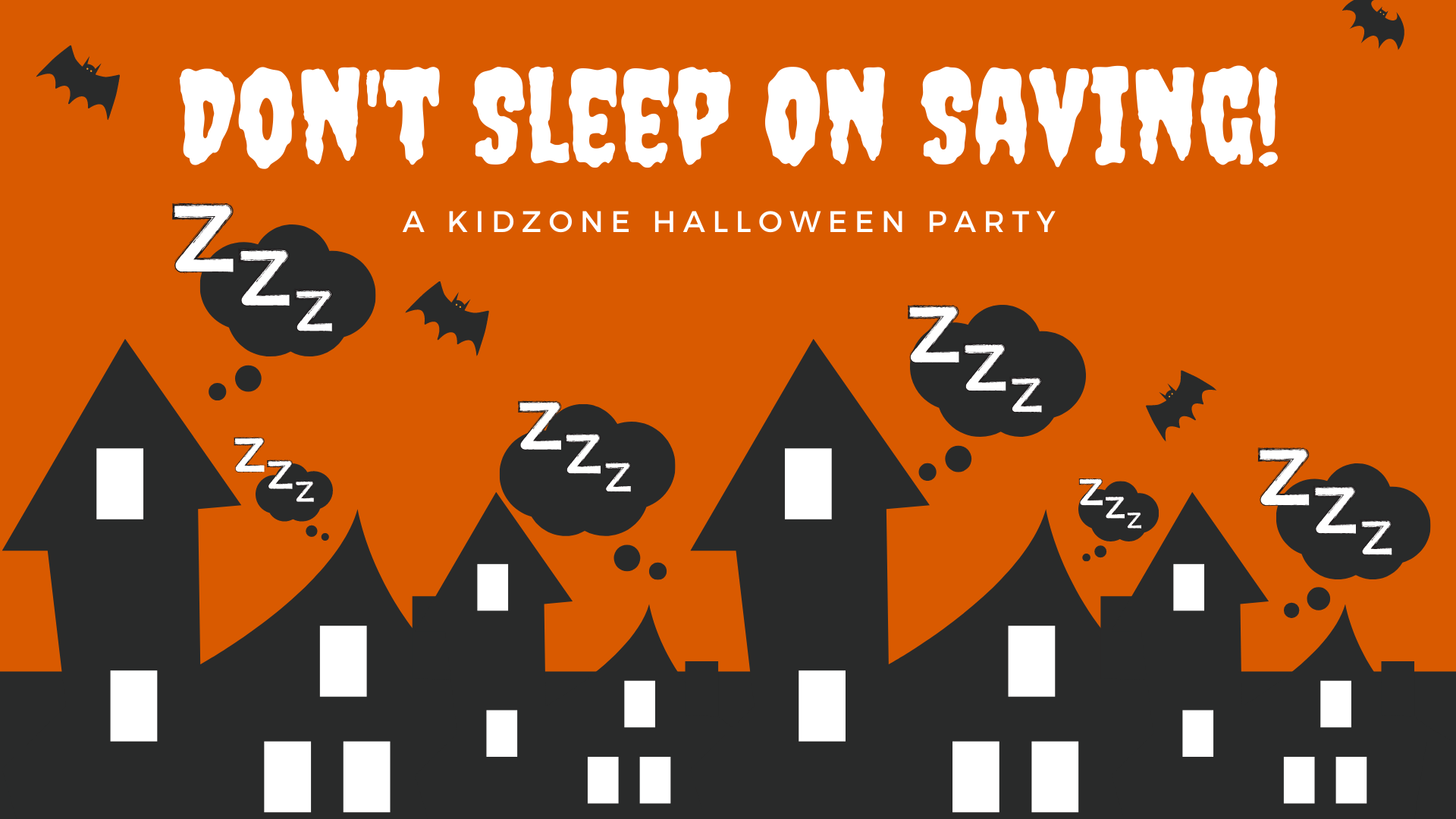 invitation to kidzone Halloween party
